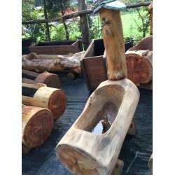 Fontana in legno rustica cm 120